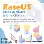 EaseUS Partition Master Enterprise Product Key For 5 PCs, Lifetime Image